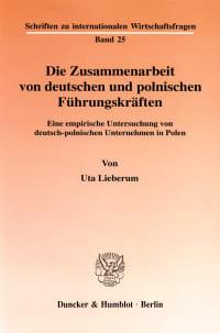 Cover Die Zusammenarbeit von deutschen und polnischen Führungskräften