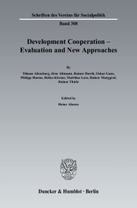 Cover Development Cooperation - Evaluation and New Approaches