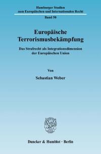 Cover Europäische Terrorismusbekämpfung