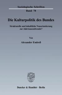 Cover Die Kulturpolitik des Bundes