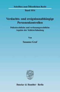 Cover Verdachts- und ereignisunabhängige Personenkontrollen
