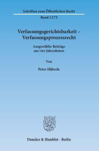 Cover Verfassungsgerichtsbarkeit – Verfassungsprozessrecht