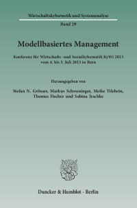 Cover Modellbasiertes Management