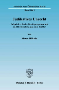 Cover Judikatives Unrecht