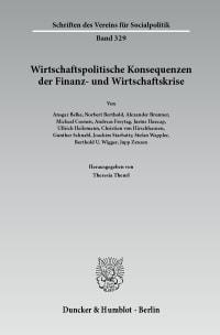 Cover Wirtschaftspolitische Konsequenzen der Finanz- und Wirtschaftskrise
