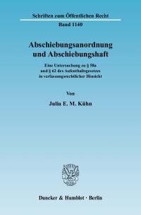 Cover Abschiebungsanordnung und Abschiebungshaft