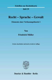 Cover Recht - Sprache - Gewalt