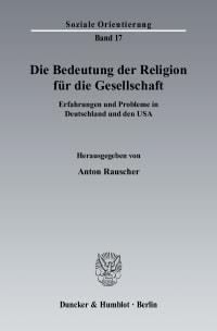 Cover Die Bedeutung der Religion für die Gesellschaft