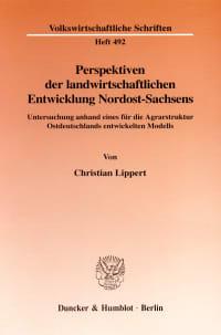 Cover Perspektiven der landwirtschaftlichen Entwicklung Nordost-Sachsens