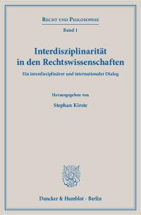 Cover Interdisziplinarität in den Rechtswissenschaften