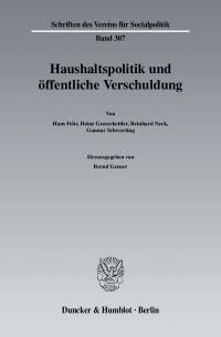 Cover Haushaltspolitik und öffentliche Verschuldung