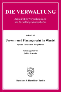 Cover Umwelt- und Planungsrecht im Wandel