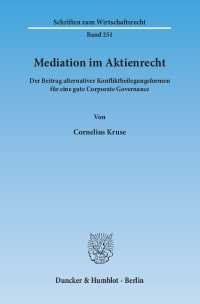 Cover Mediation im Aktienrecht