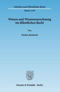 Cover Wissen und Wissenszurechnung im öffentlichen Recht