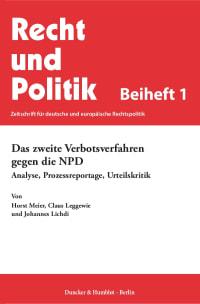 Cover Das zweite Verbotsverfahren gegen die NPD