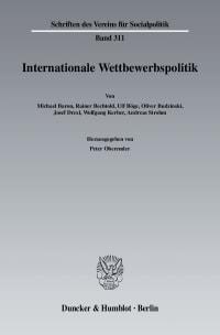 Cover Internationale Wettbewerbspolitk
