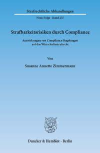 Cover Strafbarkeitsrisiken durch Compliance