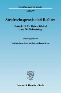 Cover Strafrechtspraxis und Reform