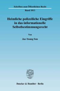 Cover Heimliche polizeiliche Eingriffe in das informationelle Selbstbestimmungsrecht