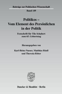 Cover Politikos - Vom Element des Persönlichen in der Politik