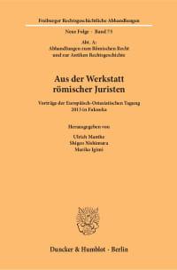 Cover Aus der Werkstatt römischer Juristen
