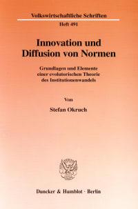 Cover Innovation und Diffusion von Normen