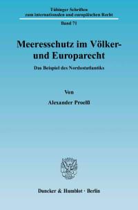 Cover Meeresschutz im Völker- und Europarecht
