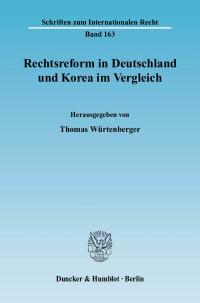 Cover Rechtsreform in Deutschland und Korea im Vergleich
