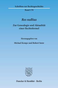 Cover Res nullius.