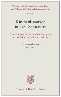 Cover Kirchenfinanzen in der Diskussion