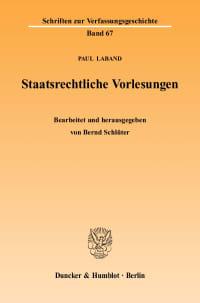 Cover Staatsrechtliche Vorlesungen