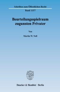 Cover Beurteilungsspielraum zugunsten Privater