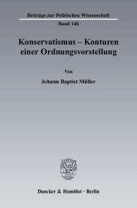 Cover Konservatismus - Konturen einer Ordnungsvorstellung