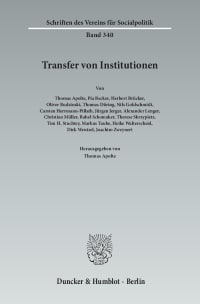 Cover Transfer von Institutionen