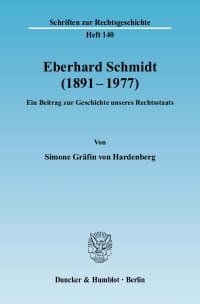 Cover Eberhard Schmidt (1891–1977)