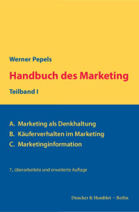 Cover Handbuch des Marketing, Teilband I