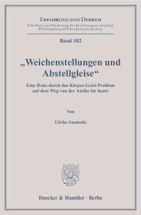 """Cover """"Weichenstellungen und Abstellgleise"""""""