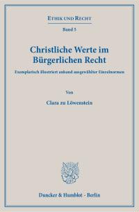 Cover Christliche Werte im Bürgerlichen Recht