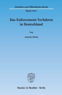 Cover Das Enforcement-Verfahren in Deutschland