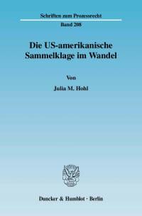 Cover Die US-amerikanische Sammelklage im Wandel