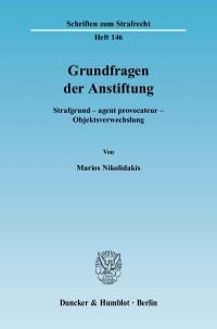 Cover Grundfragen der Anstiftung