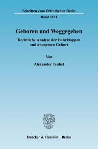 Cover Geboren und Weggegeben
