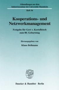 Cover Kooperations- und Netzwerkmanagement