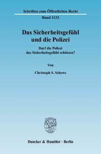 Cover Das Sicherheitsgefühl und die Polizei