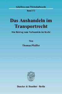 Cover Das Aushandeln im Transportrecht