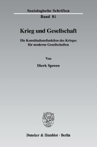 Cover Krieg und Gesellschaft