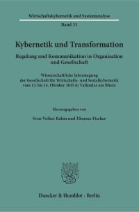 Cover Kybernetik und Transformation