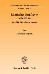 Cover Römisches Strafrecht nach Ulpian