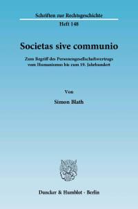 Cover Societas sive communio