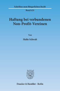 Cover Haftung bei verbundenen Non-Profit-Vereinen